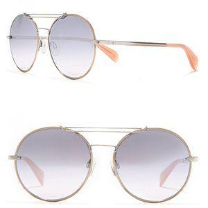 NWT Rag & Bone 59mm Round Blue Gradient Sunglasses